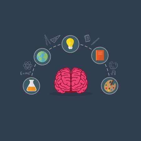Education Concept. Brain Illustation