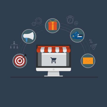 Online Shop Illustration. E-Commerce Concept
