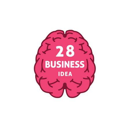 Flat Design Of Brain With Sign Illusztráció