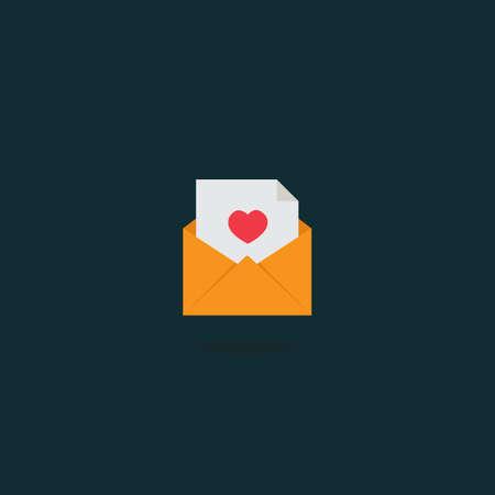 Love Letter in envelope Icon
