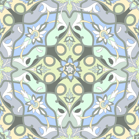 Amazing pastel ornamental pattern of excellent quality and detail. Vector