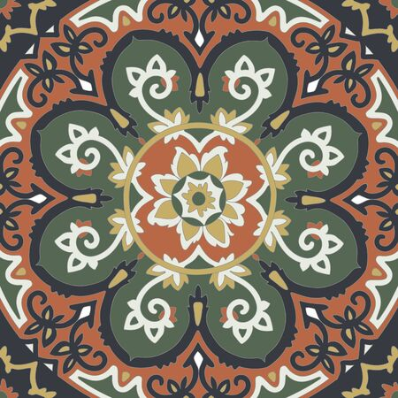 colores calidos: Ornamental ethnicity pattern in warm colors.