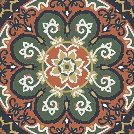 colores calidos: Patr�n etnia ornamental en colores c�lidos.
