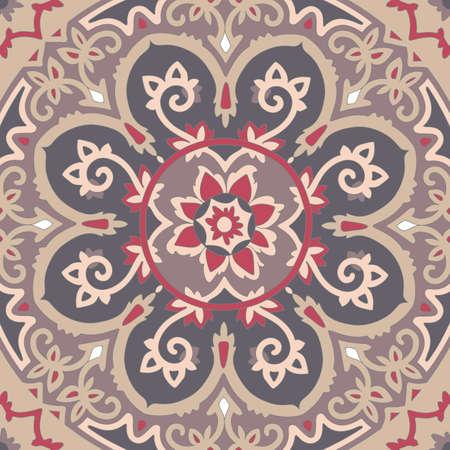 ethnicity: Ornamental ethnicity pattern in warm colors. Illustration
