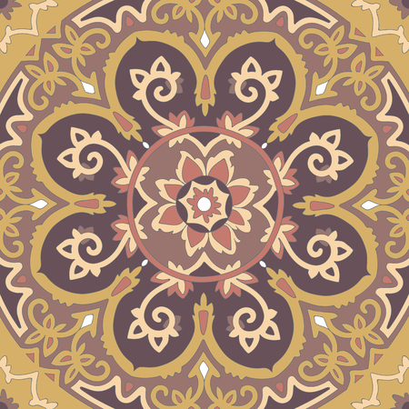 ethnicity: Ornamental ethnicity pattern in warm colors.