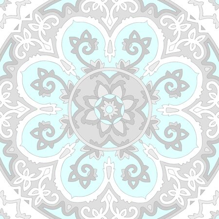 chrom: Ornamental ethnicity pattern in cold colors.