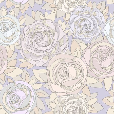 dusty: Floral seamless pattern.