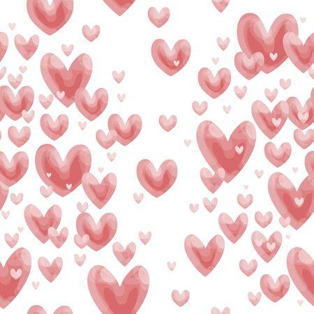 catchy: Valentine heart pattern