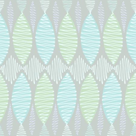 arbitrario: Modelo incons�til del vector. Winding trazos de colores n�tidos delgadas se tambale�. Fondo azul, elementos blancos y de color turquesa en tonos pastel. Vectores