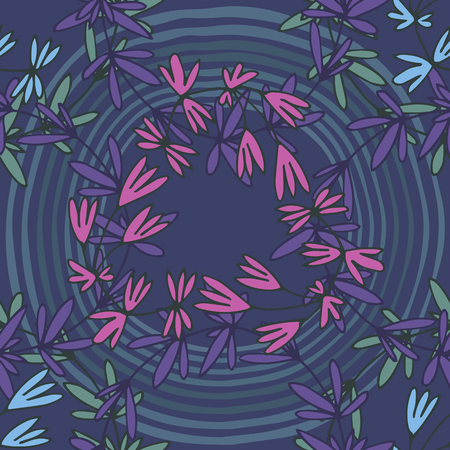 contrast floral: Floral seamless pattern. Pink leaves intertwined with burgundy and green. Black background, dramatic contrast. Can be used for curtains, wallpaper, pattern fills, web page background, surface textures.