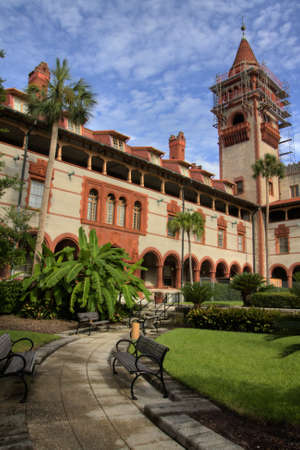 augustine: HDR photo of the Flagler college, St  Augustine, florida