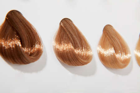 Blond hair swatches photo