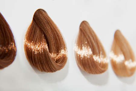 Copper hair swatches