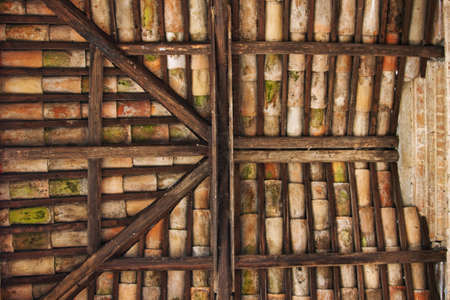 inddor: Old roof of a church, in Italy Stock Photo