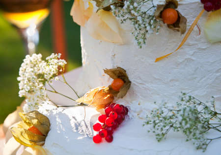 Detail of wedding cake photo