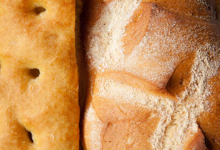 genoese: Close up genoese focaccia and bread Stock Photo