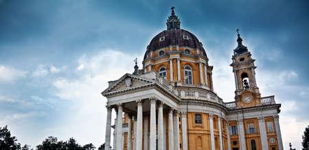 Basiliek van Superga, in de buurt van Turijn (Piemonte, Italië) Stockfoto