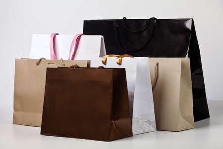 いくつかのショッピング バッグ。 写真素材