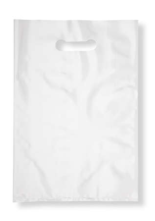 Plastic bag on white with shadow (with clipping path) Standard-Bild