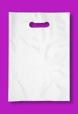 Plastic bag on white with shadow (with clipping path) photo