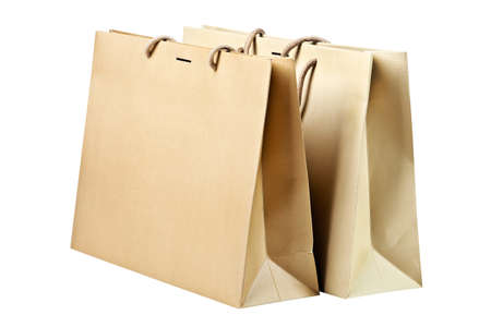 Two  shopping bags on white Stock Photo - 22290676