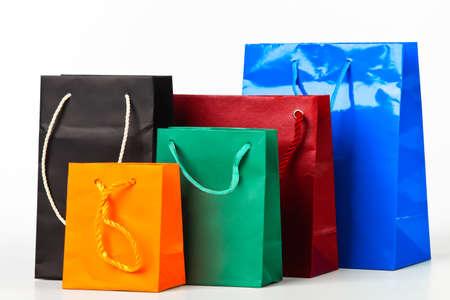 Meerdere boodschappentassen.