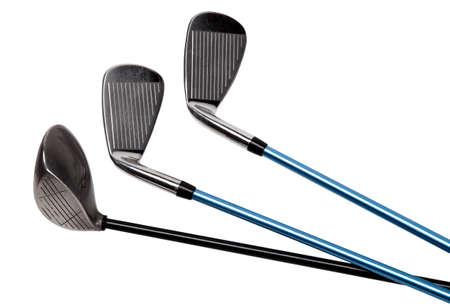 Palos de golf aislados en blanco Foto de archivo - 22290960