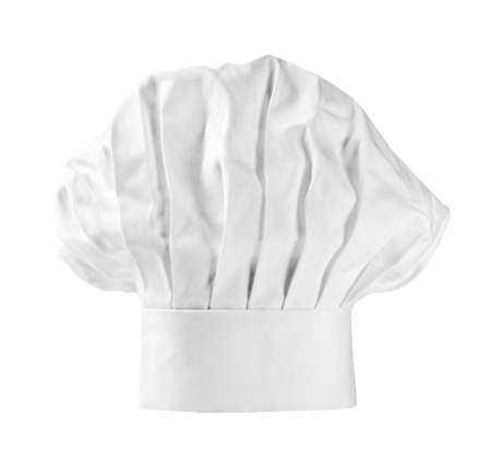 Chef hat or toque on white