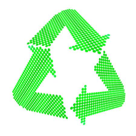 Recycle symbol on white  photo