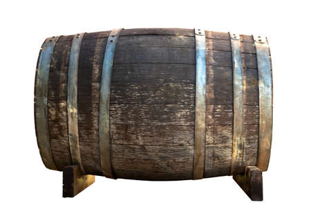 chianti: Barrell isolated on white