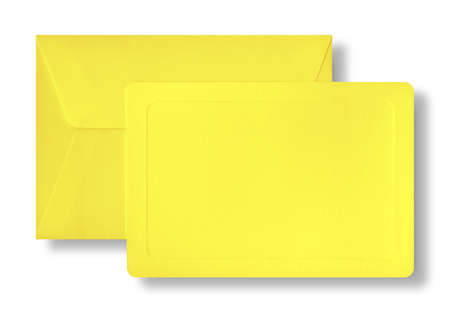 yeloow: Yeloow card and envelope with shadow  Stock Photo