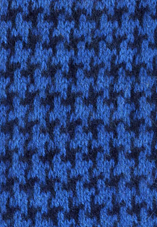 houndstooth: Houndstooth blue fabric.