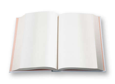 Open blank book  on white with shadow photo