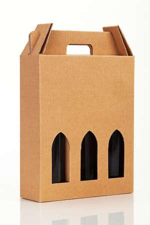 Wine gift box. Stok Fotoğraf