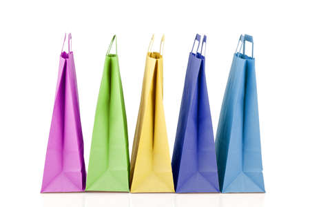 Several paper shopping bags. Stock Photo