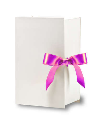 White box with pink bow