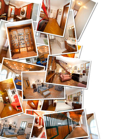 A pile of photo interior with space for your logo or text.