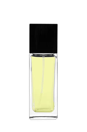 perfumery concept: Silhouette of a little bottle of perfumer