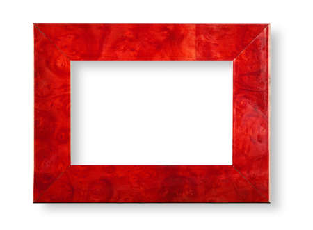 embrasure: Briair red frame on white with shadow Stock Photo