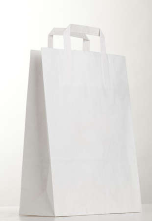 White shopping bag on white. photo