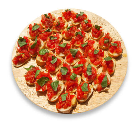 Italian Bruschette (tomatoes and bread)  photo