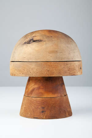 Old wood shape for hats. Banco de Imagens