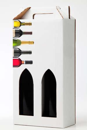 Wine gift box. Stock Photo