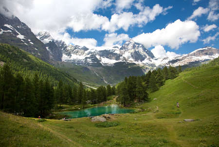 Cervinia  Breuil, Valle dAosta, Italy (Lake Blue)