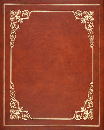 ancient book: Brown leather book cover