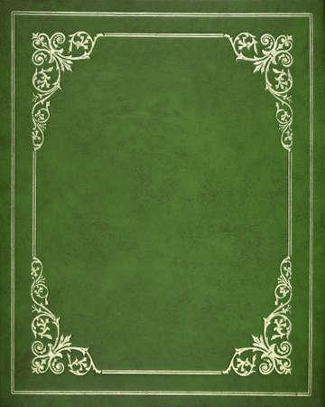 Groene lederen cover van het boek Stockfoto