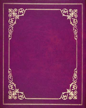Purple leather book cover