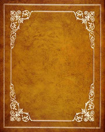 kniha: Brown kožený přebal knihy Reklamní fotografie