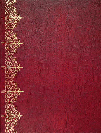 Red leather book cover Stok Fotoğraf