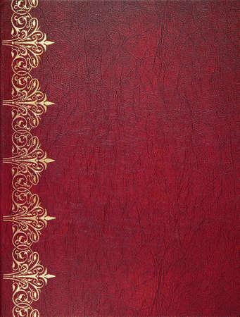Rode lederen cover van het boek